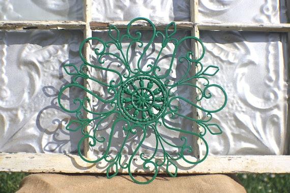 Wrought Iron Wall Decor/ Metal Wall by MichelleLisaTreasure