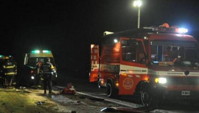 RUTA 7. Accidente fatal en el kilómetro 484 (Foto Nexos del Sur).