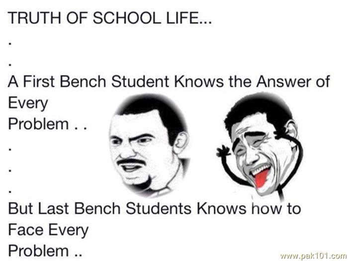 Funny Picture Truth Of School Life Pak101com