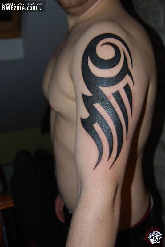 Left Tribal Arm Tattoo