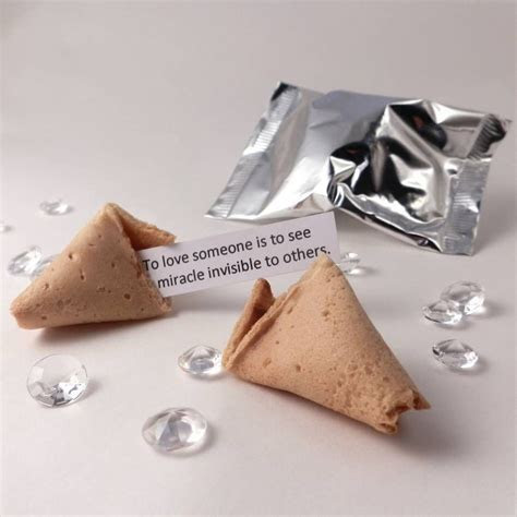 Unusual Wedding Favours: Fortune Cookies: Silver Wrap
