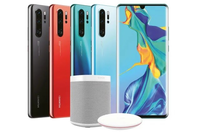 Huawei launches P30 and P30 Pro smartphones.