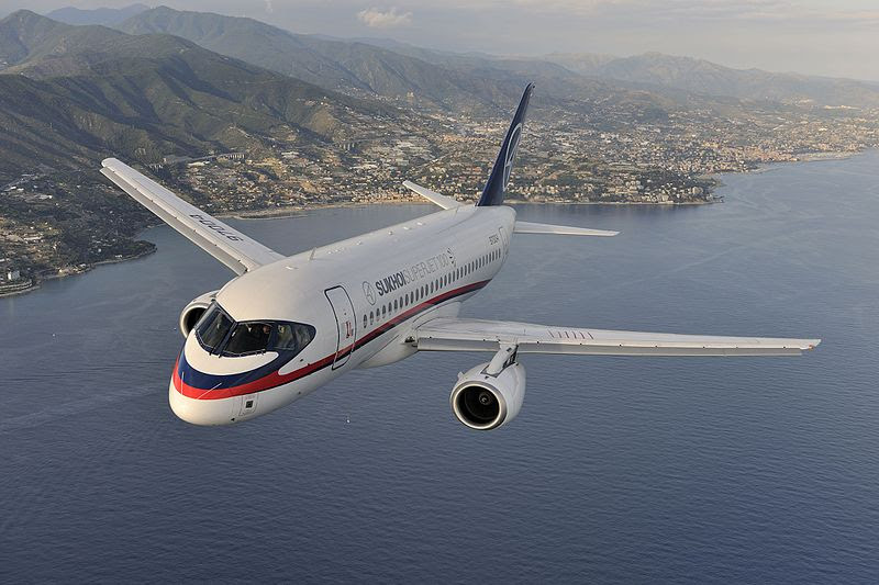 File:Air-to-air photo of a Sukhoi Superjet 100 (RA-97004) over Italy.jpg