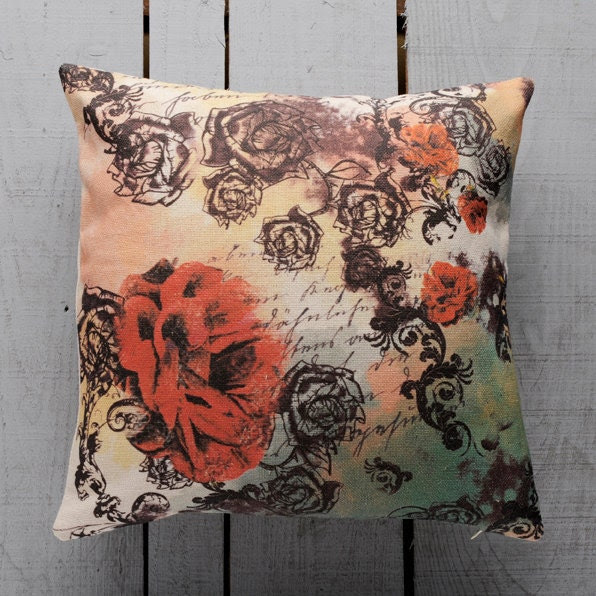 Roses Decorative Pillow Cover Handmade - GargaProject