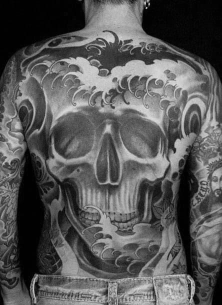 40 Japanese Skull Tattoo Designs For Men Cool Cranium Ink Ideas