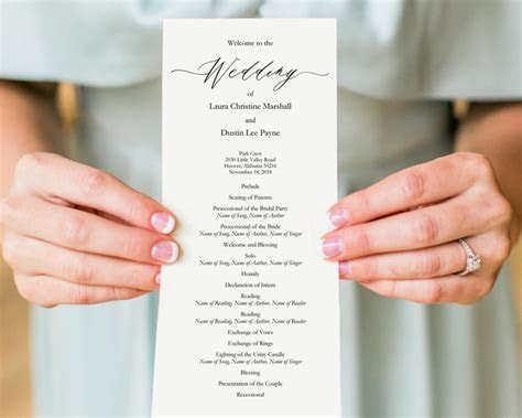 DIY Wedding Programs · Wedding Templates and Printables