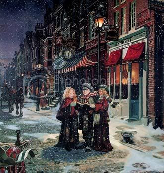 Cristmas eve singing christmas carols Pictures, Images and Photos