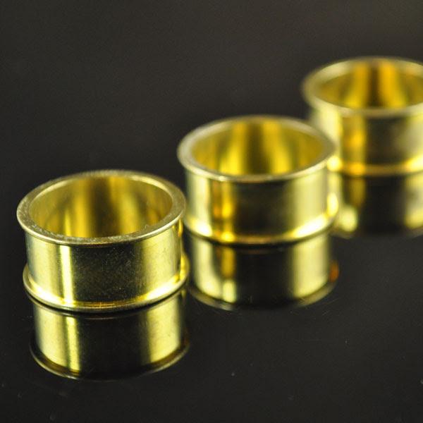 s35306 Metal Bezel Settings - Size 7 x 9.5 mm Channel (Finger) Ring - Brass (1)