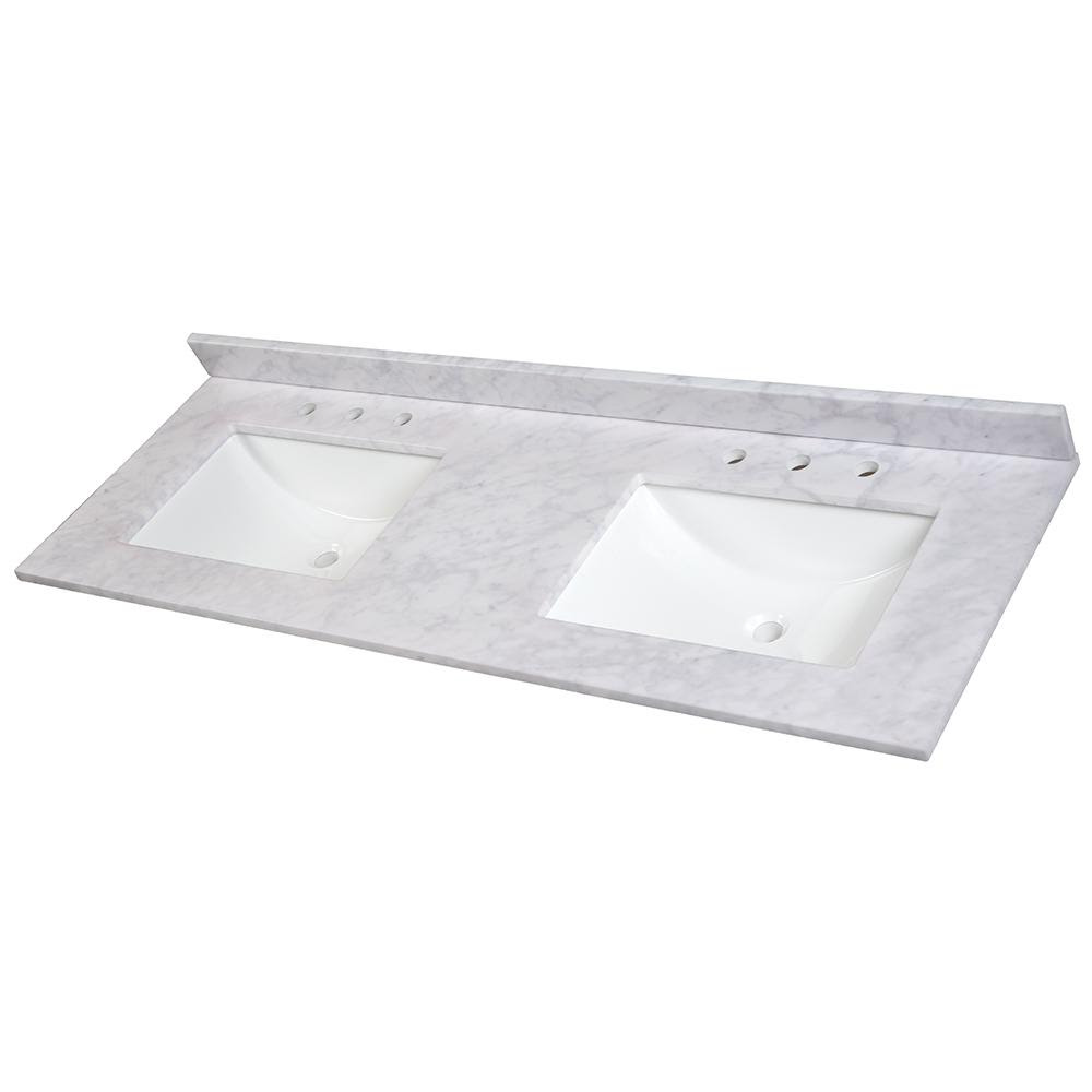 Quartz 72 Double Bowl Vanity Top