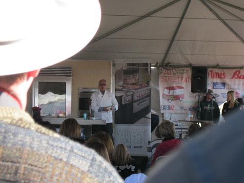 Chef Geoffrey Zakarian doing a demo