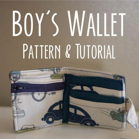 boys kids wallet pattern tutorial