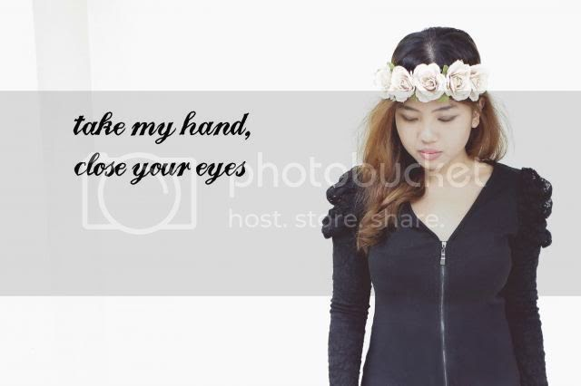 take my hand, close your eyes