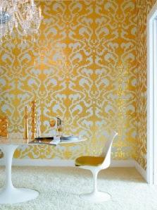 glass tiles in damask pattern