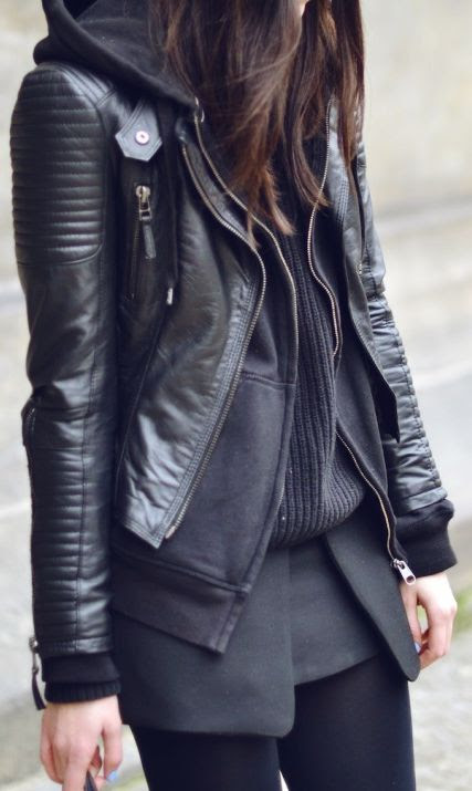 Layering in leather