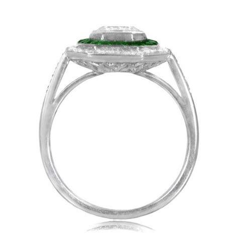 1.72 Carat Emerald Cut Diamond Ring   Estate Diamond Jewelry