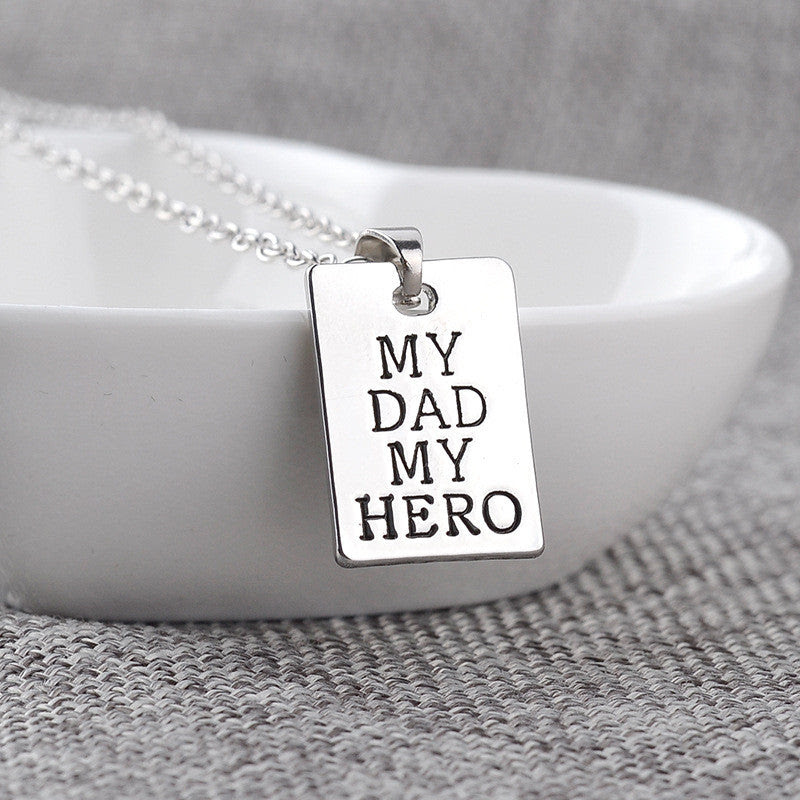 Akia My Dad My Hero Engraved Gifts Memorial Jewelry Quan Jewelry