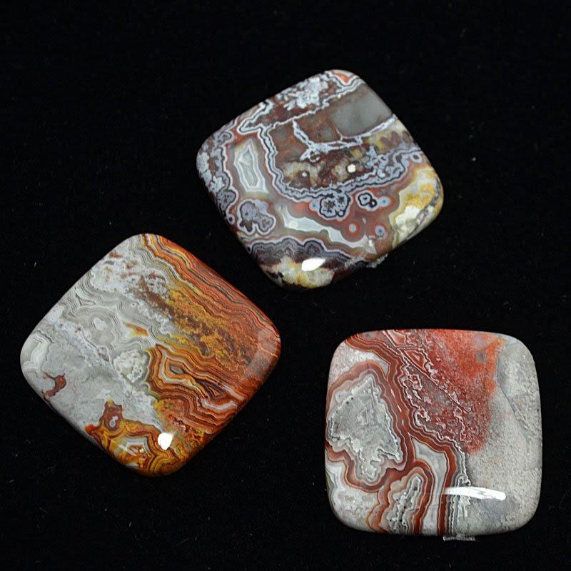 s44235 Stone Cabochon - 30 mm Square Cabochon - Crazy Lace Agate (1)