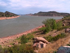 Horsetooth Reservoir, part of the Colorado-Big Thompson Project, is located in Larimer County in northern Colorado.