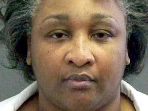 Kimberly McCarthy no corredor da morte nesta terça-feira (25) (Foto: AFP PHOTO / Texas)