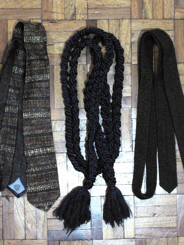 Ties and belt