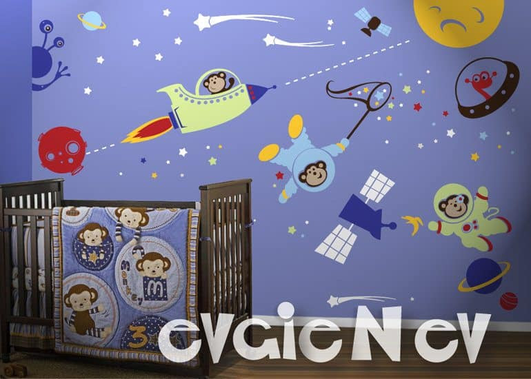 Space Monkeys Wall Decals
