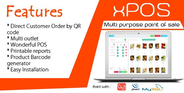 xPOS v1.0 - Multi purpose Point of Sale in PHP