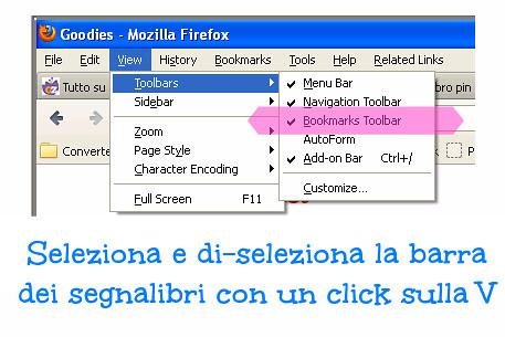 come aggiungere e rimuovere la barra dei segnalibri, pinterest bookmark, pin it button