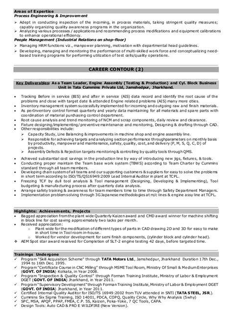 Saroj cv engine testing (r&d), production, qaqc, may 2016