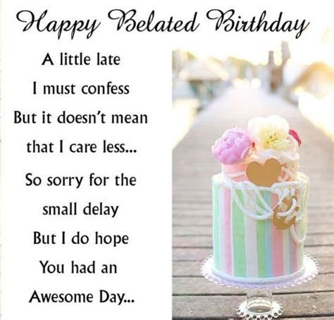 31 Happy Belated Birthday Wishes with Images   My Happy