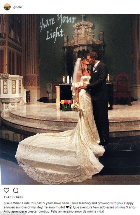 Gisele Bundchen and Tom Brady celebrate 9th anniversary