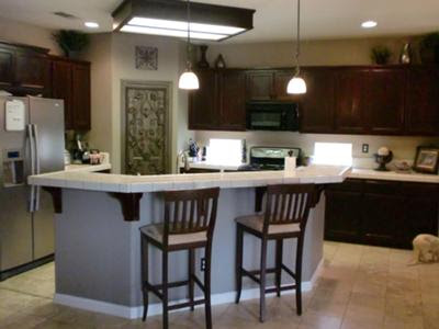 DIY Kitchen Makeover: Easy Change From Simple Oak To Fabulous Cherry!