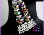 Live Love Laugh Multicolor Inspirational Earrings