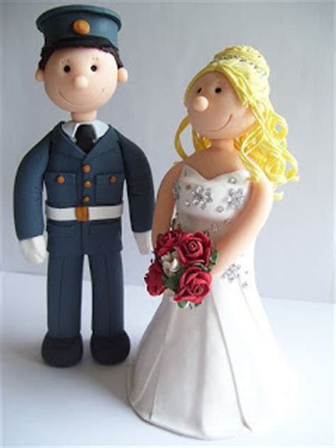 happy reflections cake toppers: RAF wedding toppers