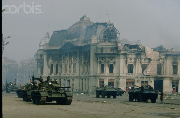 Military Presence in Bucharest After the Fall of Ceausescu