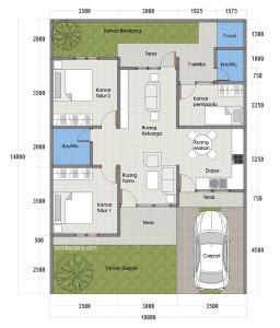 desain rumah type 80 1 lantai - sekitar rumah