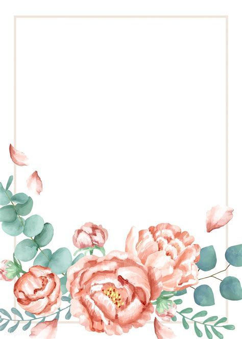 Invitation card with a floral theme   free image by