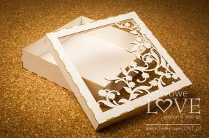 Pudełko Dekor konwalie, Baby Lily na kartkę/album, 16x16 cm, z beermaty