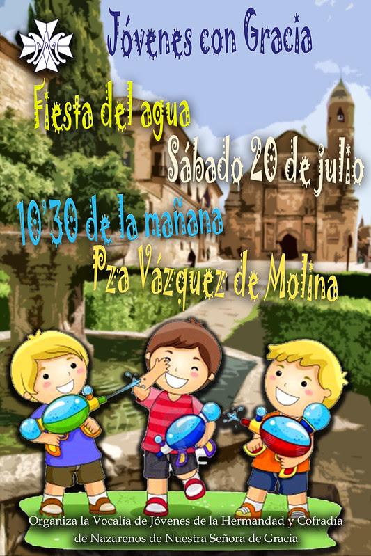 Cartel Fiesta agua