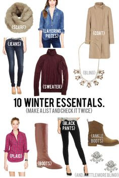 jillgg's good life (for less)   a style blog: 10 winter essentials!