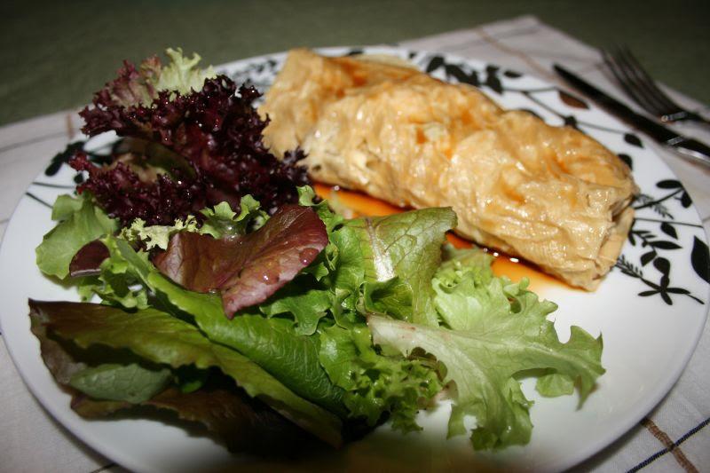 Stuffed Yuba & Salad