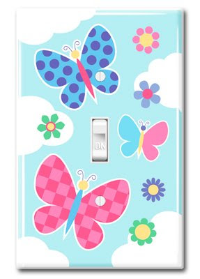 Olive Kids Butterfly Garden Kids Light Switch Plate Cover  Kids Room Switch Plate Covers