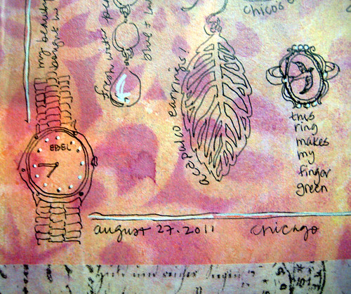 jewelry ~ mixed media journal