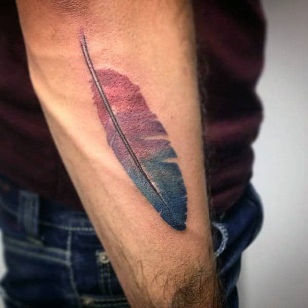 70 Feather Tattoo Designs For Men Masculine Ink Ideas