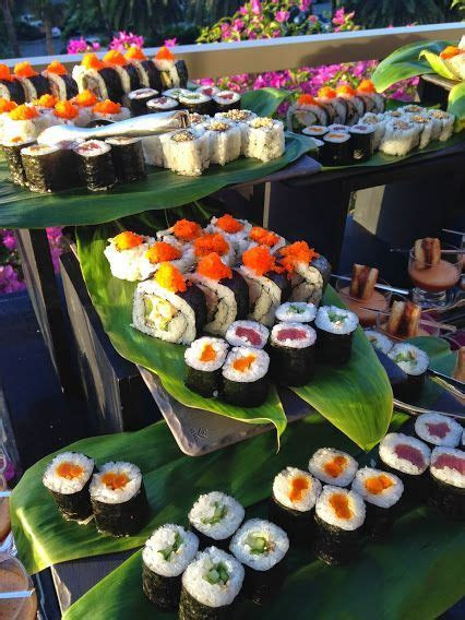 Delight your guests with a fresh sushi station at your #