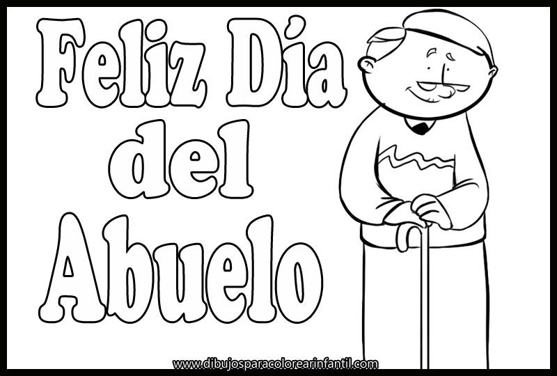 Imagenes Para Imprimir Y Colorear Dia De Los Abuelos