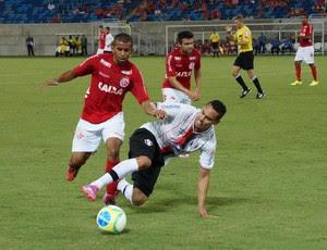 América-RN x Joinville, na Arena das Dunas (Foto: Augusto Gomes/GloboEsporte.com)
