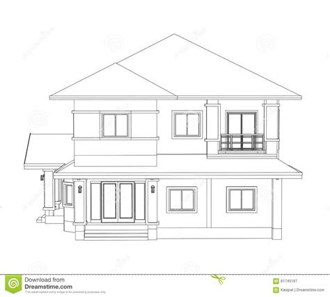 construction home drawing stock illustration image