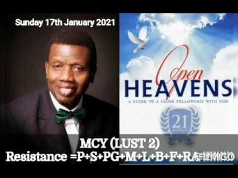 Open Heaven 17 January 2021 – MCY: Lust II