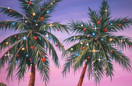 Holiday Palms Christmas Card