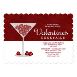 Red Sweetheart | Valentines Cocktail Party 5x7 Paper Invitation Card